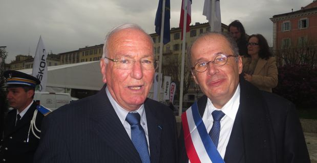 Jean Baptiste Raffalli, conseiller municipal de Bastia, et Philippe Peretti, son successeur à la délégation du patrimoine.