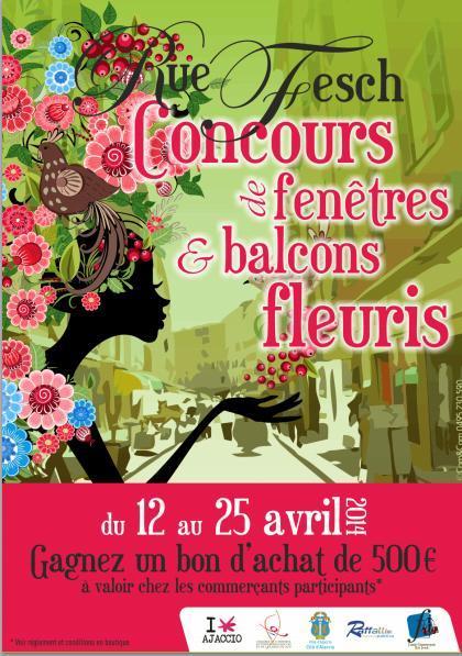 Place au 1er concours de fenêtres et balcons fleuris de la rue Fesch !