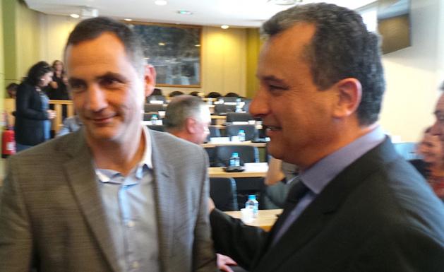 Gilles Simeoni, nouveau maire de Bastia et François Tatti, nouveau président de la CAB.