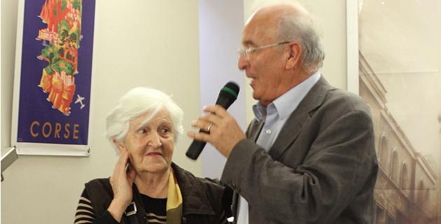 Mario Papi et la présidente de l'ANACR2A