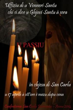 """Confrérie de Saint-Charles de Bastia : """"L'Uffiziu di u veneri santu chi si dice u ghjovi santu à sera"""""""