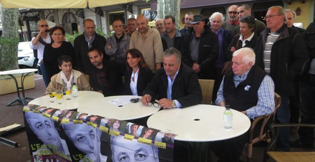 Fabienne Giovannini, Ghjuvan'Batti Arena, Nathalie Fantoni, François Alfonsi et Vincent Tabarani.