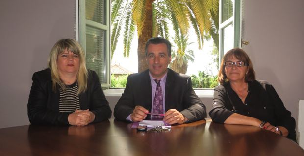Le groupe Corse Social Démocrate à l'Assemblée de Corse : Rosy Ferri-Pisani, le nouveau président du groupe Antoine Orsini et Benoîte Martelli.