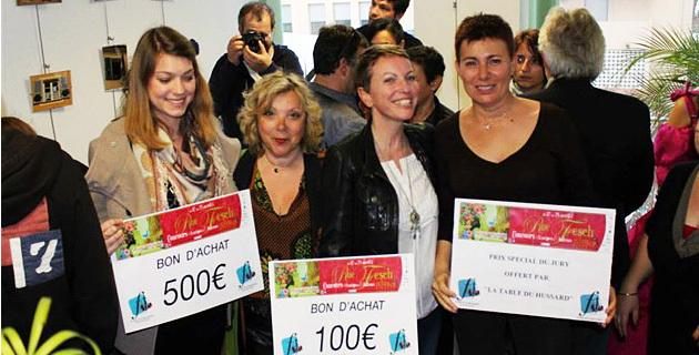 Les gagnantes du 1er Concours des Fenêtres et des Balcons Fleuris de la rue Fesch. – avec Laetitia Filippi , Rita Beveraggi , Plume D'île Sabine Susini et Marilyne Santi