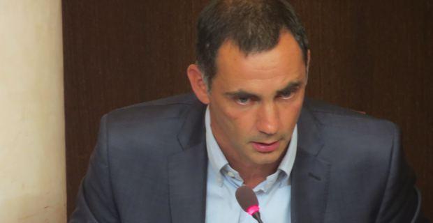 Gilles Simeoni, conseiller territorial, leader de Femu a Corsica et maire de Bastia.