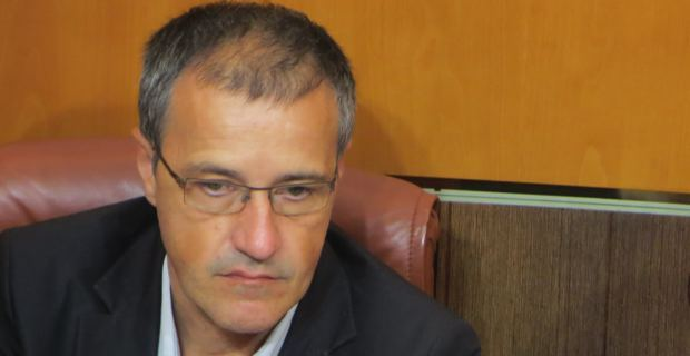 Jean-Guy Talamoni, conseiller territorial indépendantiste, président du groupe Corsica Libera à l'Assemblée de Corse.