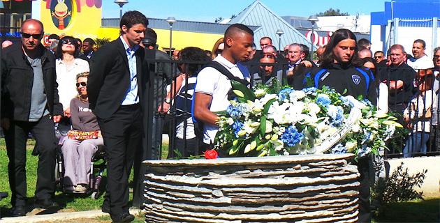 Yannick Cahuzac et deux jeunes licenciés du club : L'hommage du Sporting