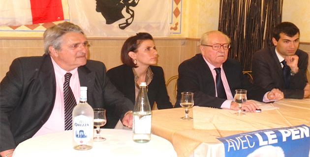 Tony Cardi, Esthelle Massoni, Jean-Marie Le Pen et Gaël Nofri