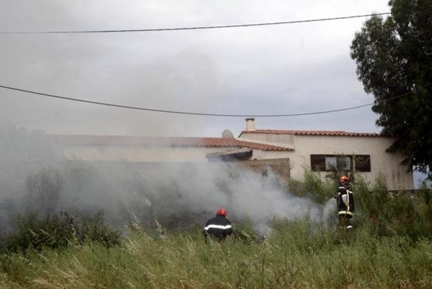 Début d'incendie route de Montemaggiore