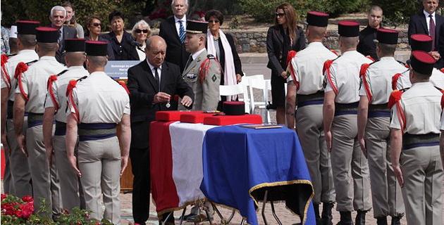 Calvi : Jean-Yves Le Drian a présidé l'hommage funèbre au sergent-chef Marcel Kalafut