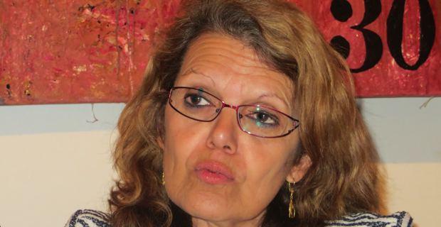 Député sortante, Marie-Christine Vergiat, tête de liste du Front de Gauche dans le Sud-Est aux élections européennes du 25 mai prochain.