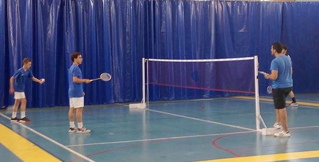 Partie de badminton