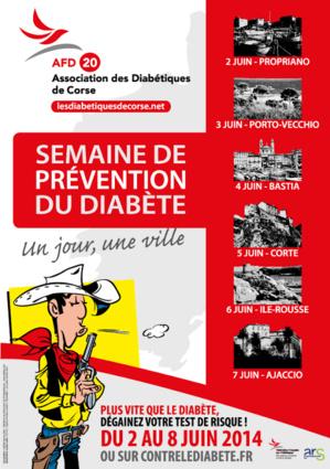 Le tour de Corse de la prévention du diabète du 2 au 7 juin