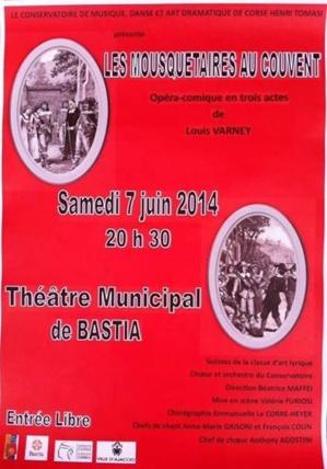 """Bastia : """"Les Mousquetaires au couvent"""" samedi au théâtre"""