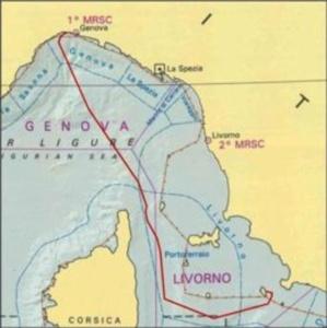 le trajet du Costa Concordia