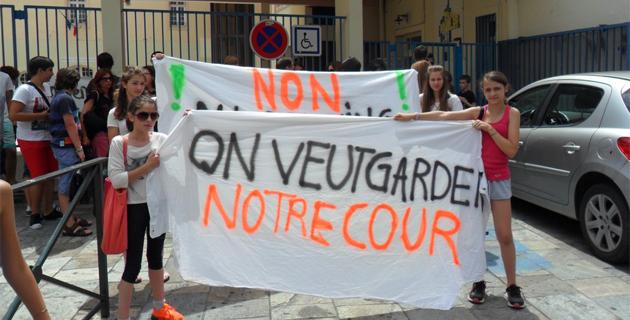 Bastia : Non au parking dans la cour du collège Simon-Vinciguerra !