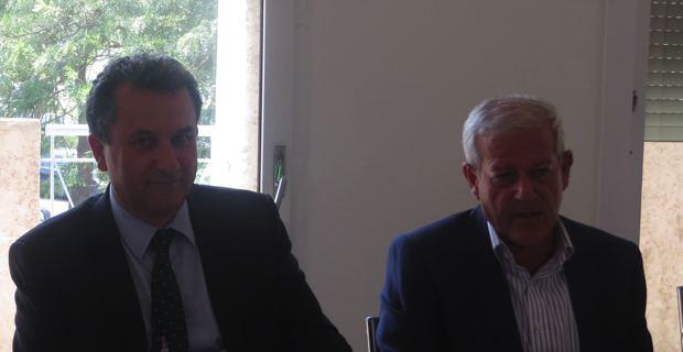 François Tatti, président de la CAB, et Frank Cadoret, directeur exécutif SFR.