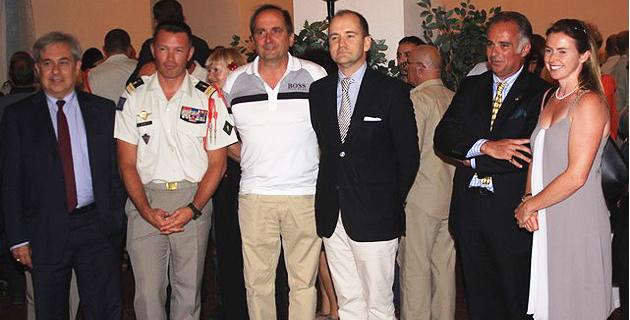 2e Rep : Le pot de départ du colonel Desmeulles au palais des gouverneurs de Calvi