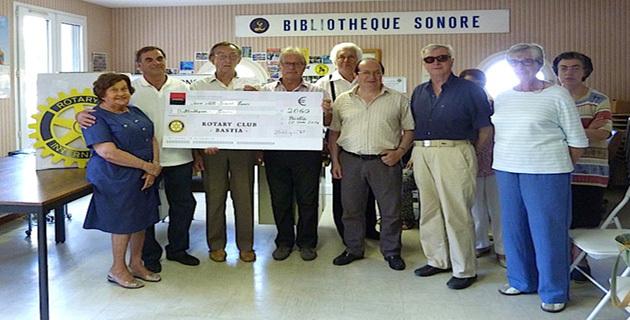 Un beau geste de générosité du Rotary Club de Bastia Doyen envers la bibliothèque sonore