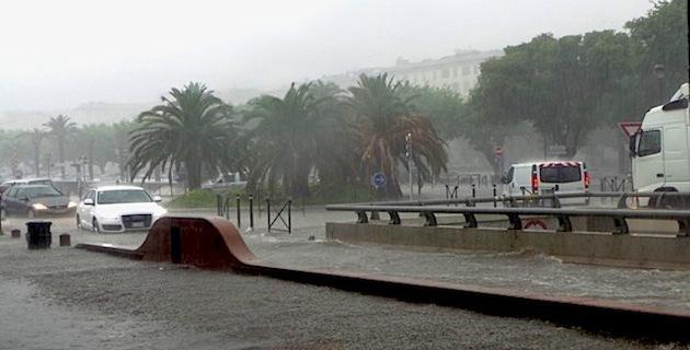 Déluge sur Bastia : 106 mm de pluie en 5 heures !