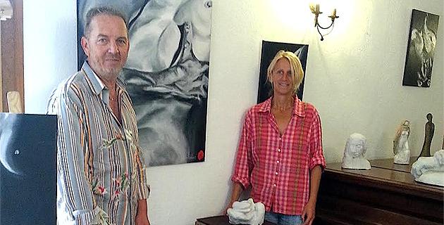 Peinture et sculpture au Clos Capitoro : Nathalie Fornès et Tony Padovani exposent jusqu'au 5 juillet