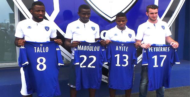 Sporting : Tallo, Maboulou, Ayité et Peybernes premières recrues