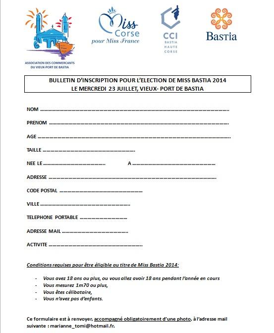 Inscrivez-vous pour l'élection de Miss Bastia le 23 Juillet sur le Vieux-Port