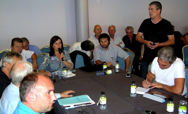 Les socioprofessionnels de Corse-du-Sud se sont réunis lundi matin à la CCI. (Photo : Yannis-Christophe Garcia)
