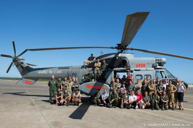 """Le dernier vol  """"D'Upoa"""" de l'escadron d'hélicoptères 01.44 de Solenzara"""