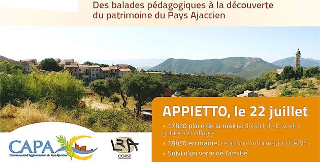 Les premières « Soirées du Patrimoine Bâti » auront lieu à Appietto
