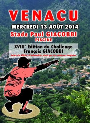 Venaco : La 18ème  édition du challenge François-Giacobbi