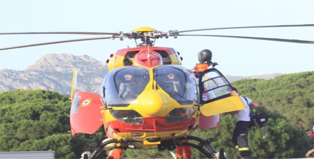 Calvi : Victime d'un arrêt cardiaque un vacancier danois évacué par hélicoptère