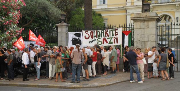 Second rassemblement de soutien au peuple palestinien à Ajaccio