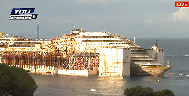Suivez l'évolution du Costa Concordia