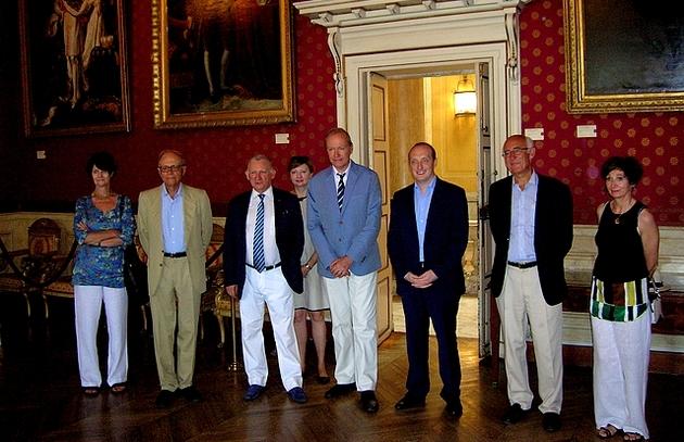 Patrice Gueniffey a été accueilli à la maison carrée par le maire d'Ajaccio, le jury et les membres du Mémorial. (Photo : Yannis-Christophe Garcia)