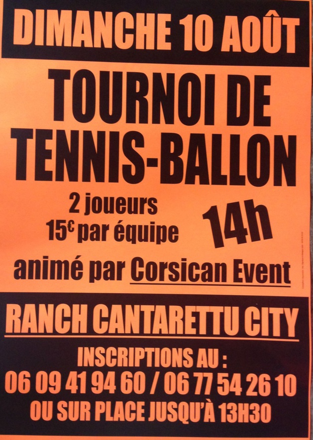 Tournoi de Tennis-Ballon au Cantarettu City d'Algajola-Corbara