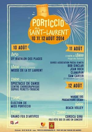 Porticcio fête Saint Laurent, son patron