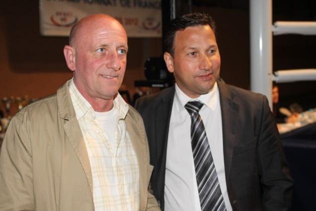 Raynald Amadei avec le président Anthony Elkaim