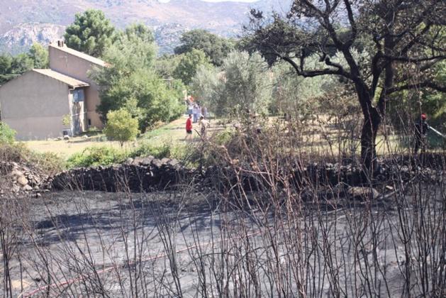 A Calenzana, les flammes sont arrivées au bord des habitations