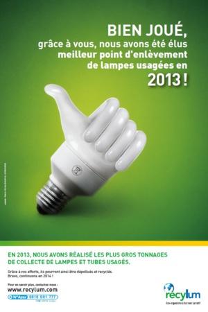 """Lampes usagées : """"Espace Elec"""" de Biguglia sur le podium"""