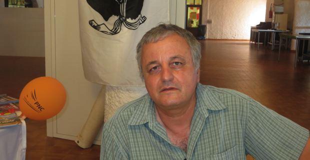 François Alfonsi, nouveau président de l'ALE (Alliance libre européenne), maire d'Osani et membre de l'Exécutif du PNC.