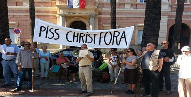 Nouvelle manifestation contre le Piss Christ d'Andres Serrano