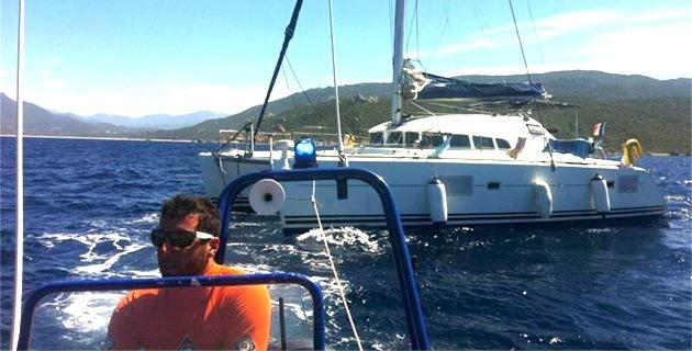 Campomoro : Un catamaran à la dérive récupéré par la SNSM !
