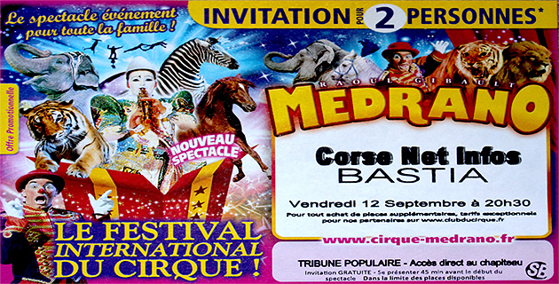 Le cirque Medrano à Bastia : Gagnez des places avec Corse Net Infos