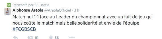 Bordeaux-Sporting en quelques tweets