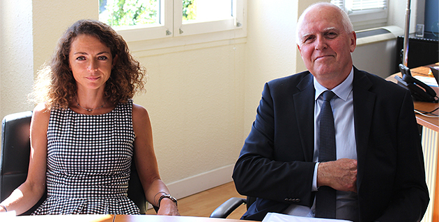 Sandrine Polychrnopoulos, directrice des études et des stages et Yvon Alain, directeur de l'Ira  de Bastia