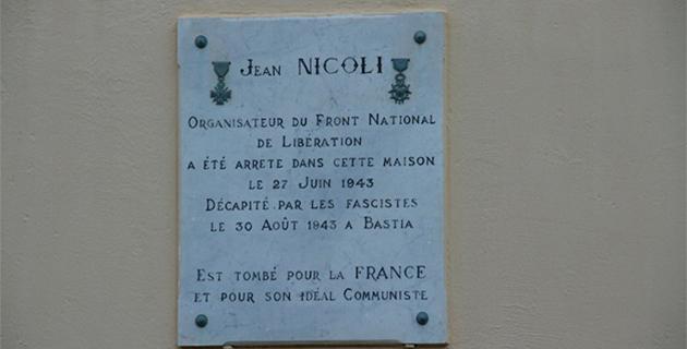Hommage à Jean Nicoli, l'instituteur héros de la Résistance