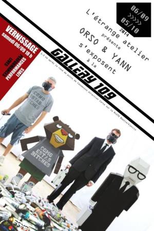 """Performance """"live"""" des  artistes-peintres Orso et Yann à la Gallery 109"""