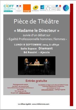 Théâtre et débat sur l'égalité professionnelle hommes-femmes à l'Espace Diamant