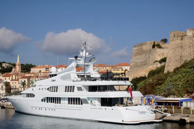 """Calvi : Escale, remarquée, du """"Samar"""", magnifique palace flottant de 77 m"""